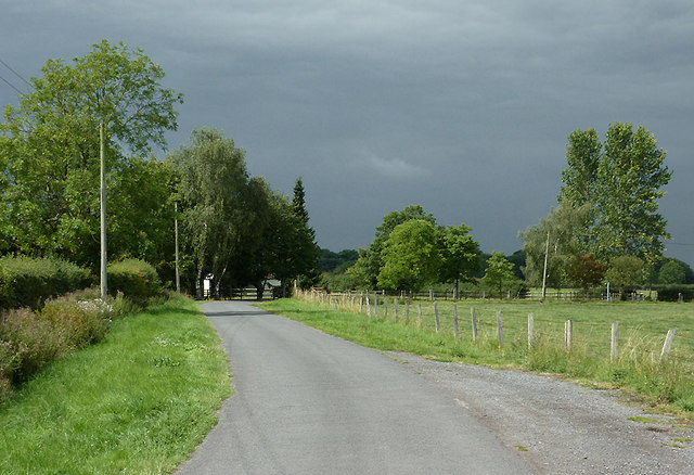 Lane at Hack Green, Cheshire