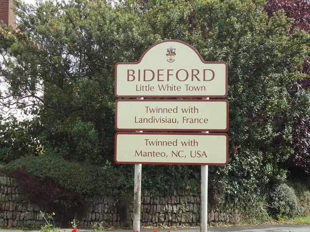 Bideford town sign