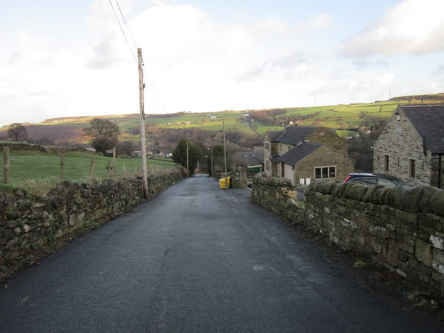 Ripponden Old Road towards Ripponden