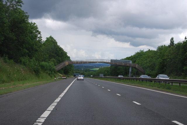 Footbridge, M74