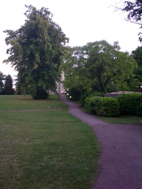 Path to Papworth Hall