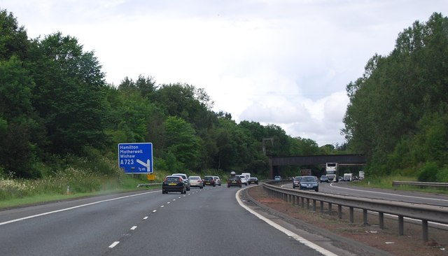 M74 northbound