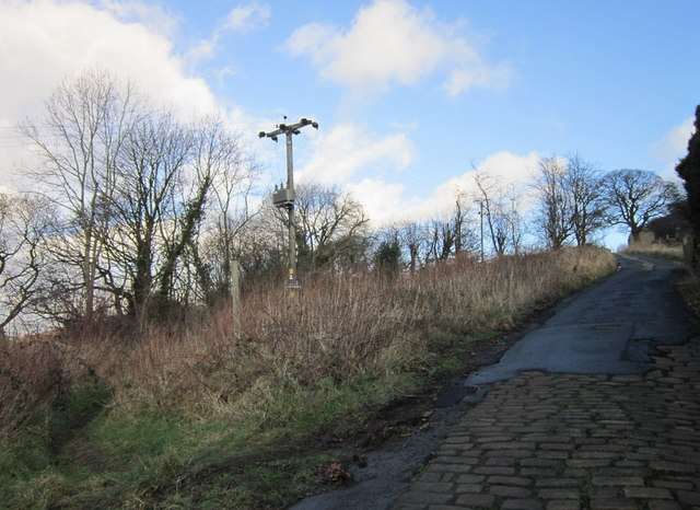 Climbing up Ripponden Old Bank (road)