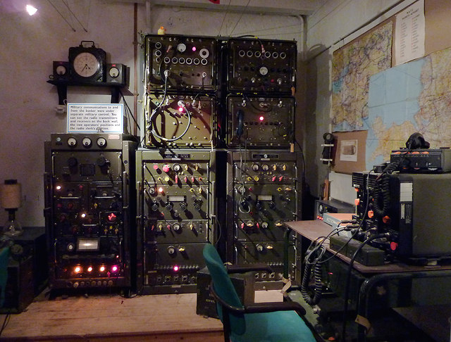 Military radio station at Hack Green Nuclear Bunker, Cheshire