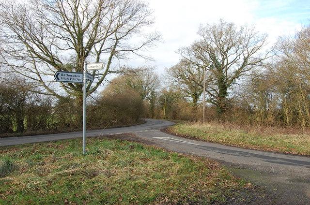 Road Junction on High Halden road