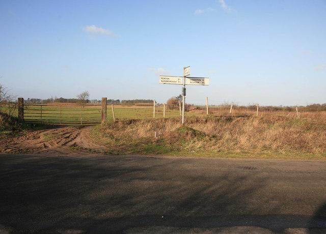 Signpost at Swansea Bridge