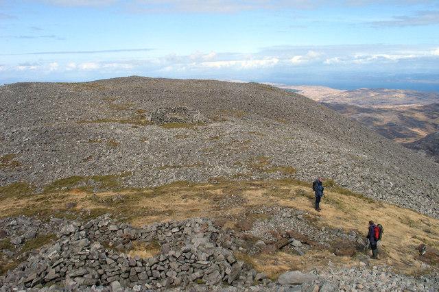 Boulders north-east of summit of Beinn an Oir