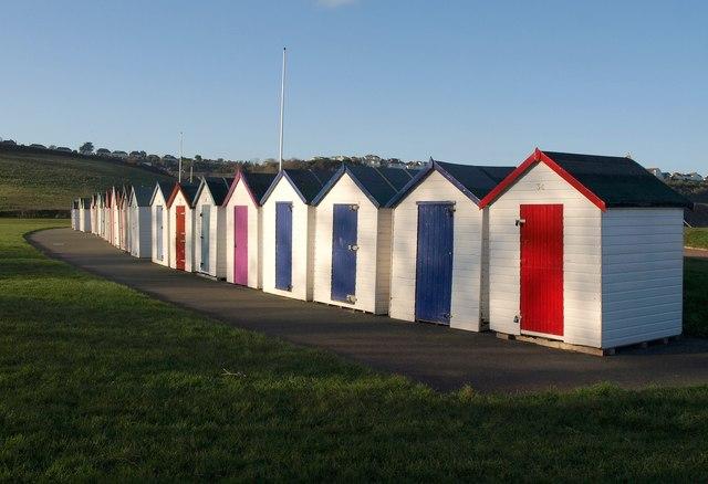 Beach huts at Broadsands