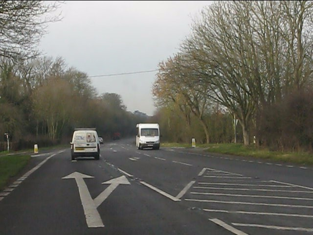A41 Albrighton bypass at Station Road crossroads