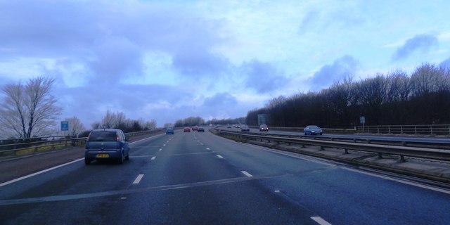 M61 where it crosses Grimeford Lane
