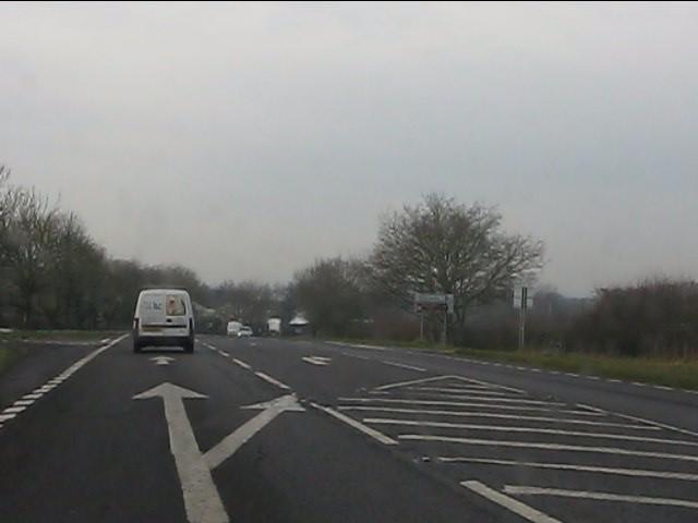 A41 at Rectory Road crossroads
