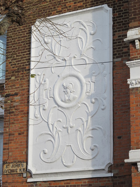 Decorative panel on a house in St. John's Avenue, NW10