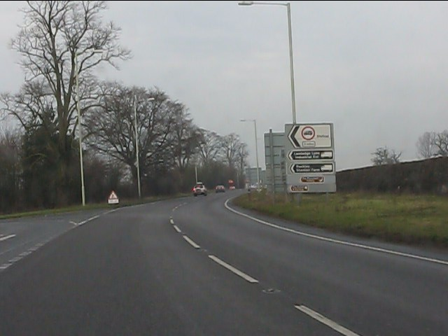 A41 at Stanton Road junction