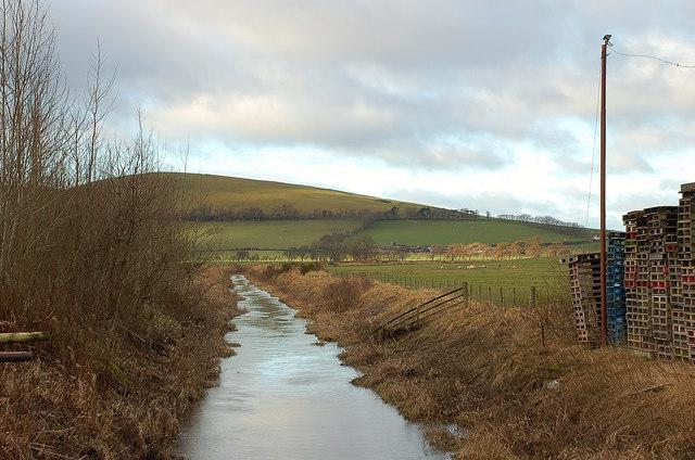 Biggar Water and Parkgatestone Hill