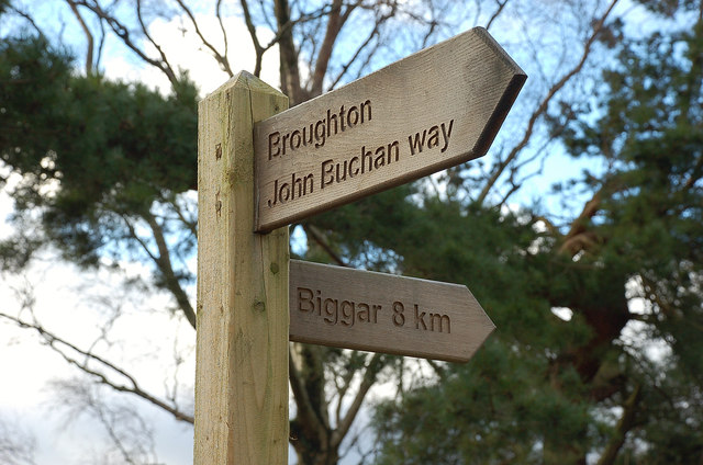 Footpath sign, Broughton