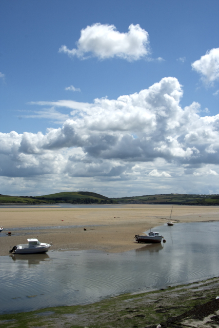 The Camel River at low tide off Padstow Jetty