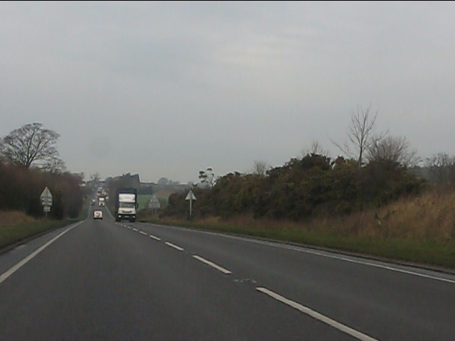 The A41 flirts with the county boundary