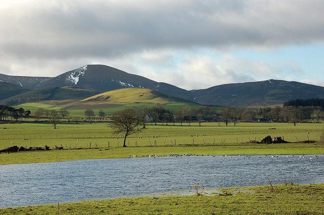 Waterlogged field near Broughton