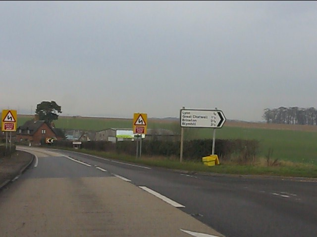 A41 at the junction for Lynn