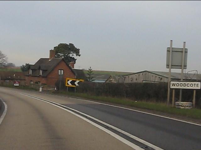 The A41 enters Woodcote