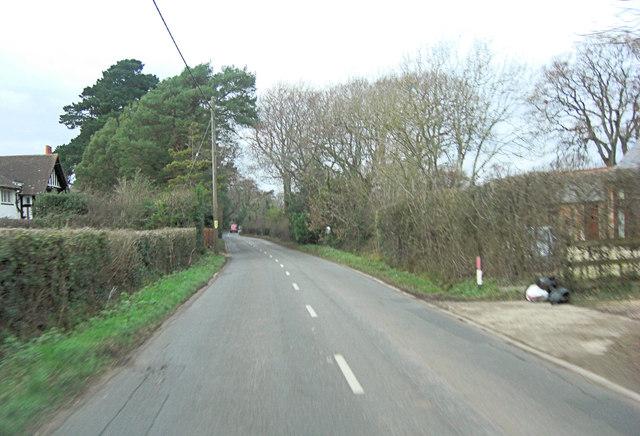 Vaggs Lane north of Danebury Farm