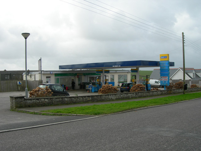 Old School Petrol Station, Probus