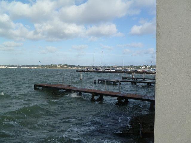 Sandbanks, pontoon