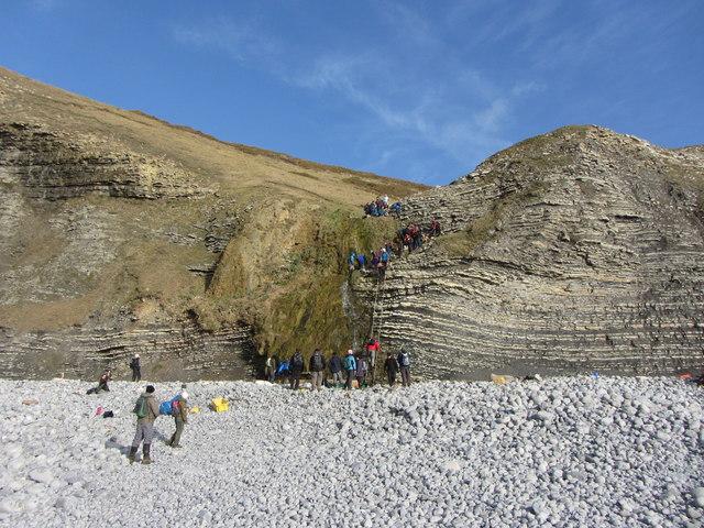 Cliffs at Traeth Bach