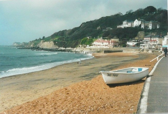The beach at Ventnor in 1988