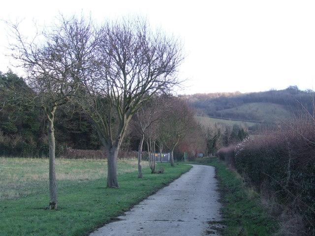 Driveway near Lullingstone