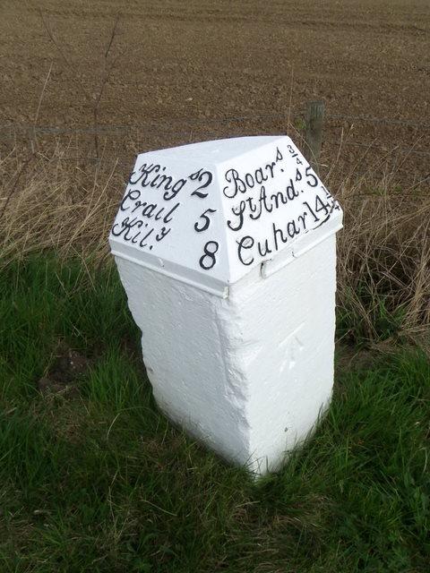 Milestone near Boarhills