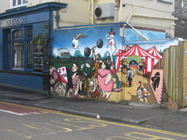 Graffiti, The Hobgoblin pub