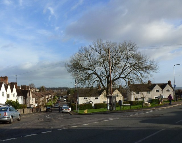 The green at the junction of Caird Street and Hardwick Avenue, Chepstow Garden City