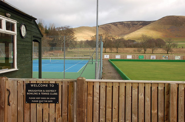 Tennis court and bowling green, Broughton