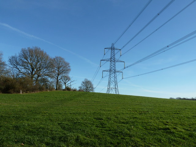 Pylon near Warr's Wood