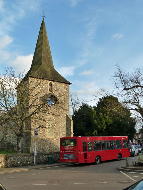 146 bus at Downe Church terminus