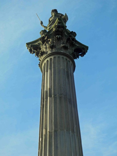Minerva atop the Duke of Argyle's column, Wentworth Castle grounds