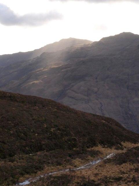 Boggy path on Cruach Tairbeirt