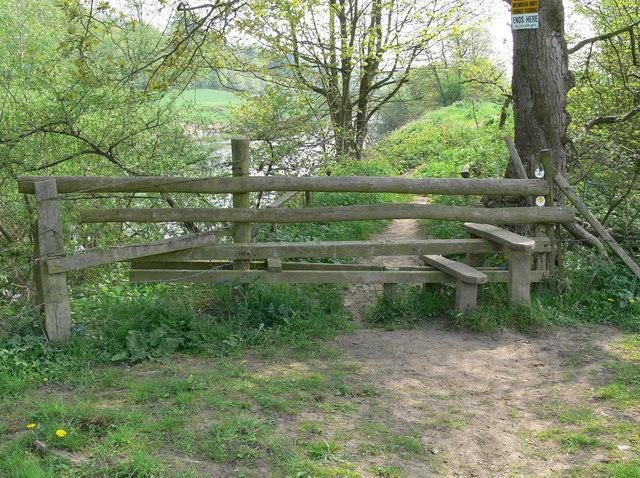 Stile along The Severn Way
