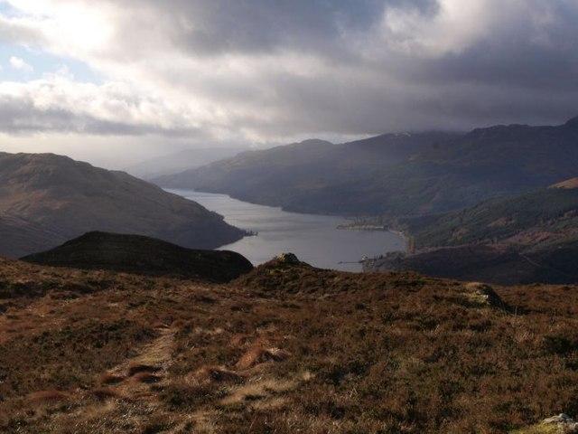 On Cruach Tairbeirt looking towards Loch Long