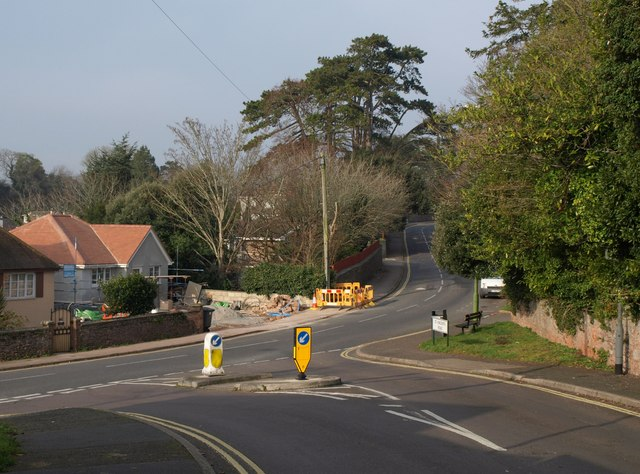 Junction of  St Vincent's Road with Barton Road, Torquay