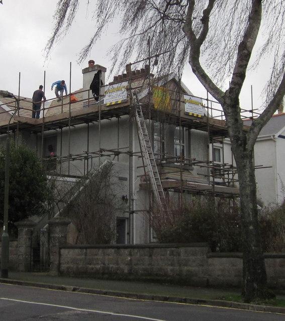 Roofing work, Cricketfield Road