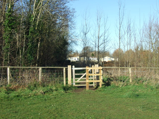 Gate On Iford Meadows,  Near Bournemouth