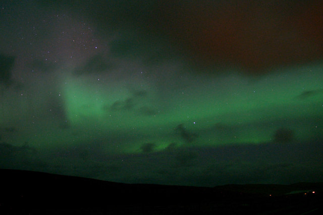 Aurora borealis from Caldback Hill