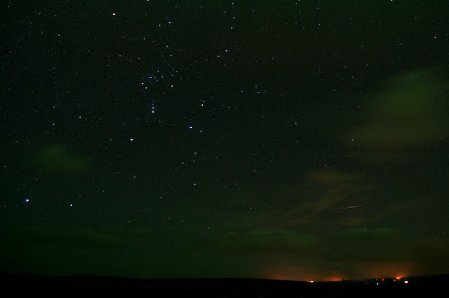 Orion over Caldback Hill