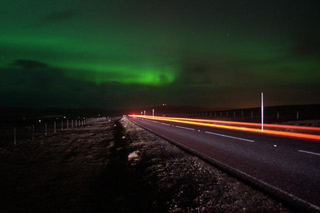 Aurora borealis from Caldback Hill