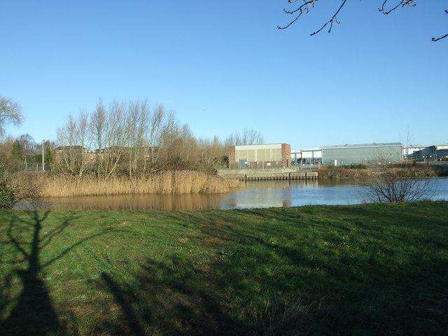 River Stour, Overlooking Bailey Bridge Retail Park