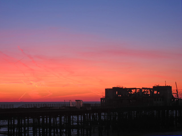 Sunrise over Hastings Pier