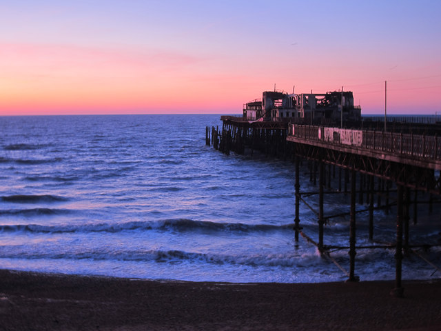 Sunrise over Hastings Pier