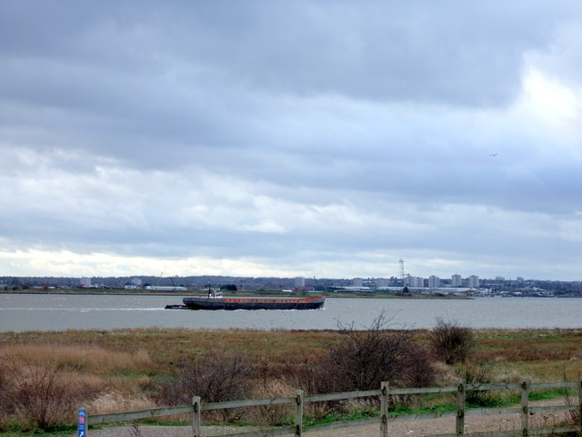 Barge on The River Thames near Purfleet